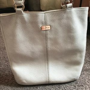 Cole haan white leather purse/tote